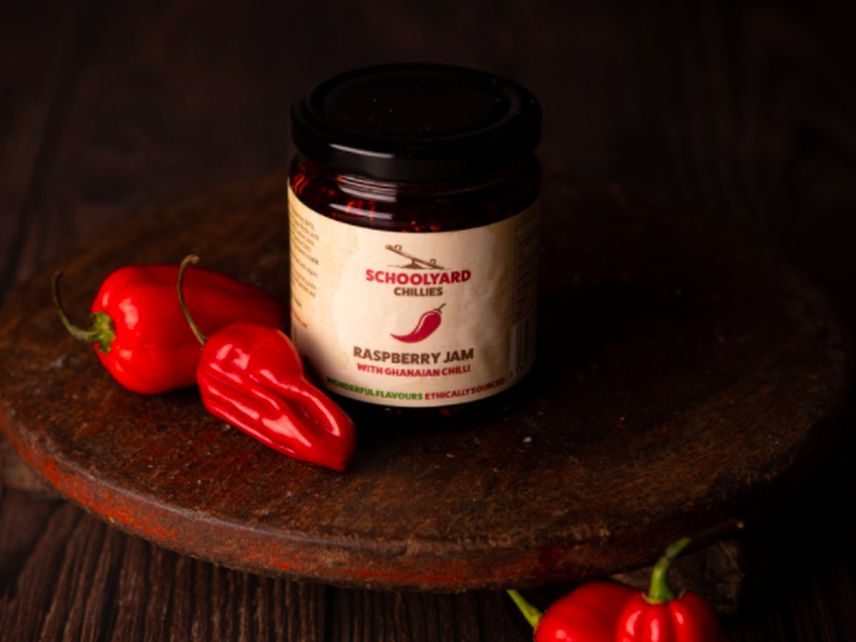 Schoolyard Chillies Raspberry Jam with Ghanaian Chilli 2