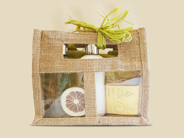 Ness Soaps Lemongrass Lime Jute Gift Set